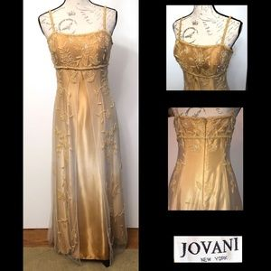 Jovani yellow/honey colored prom or wedding gown 8